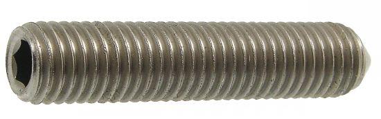 Vis métaux sans tête 6 pans creux bout pointeau vis métaux sthc pointeau