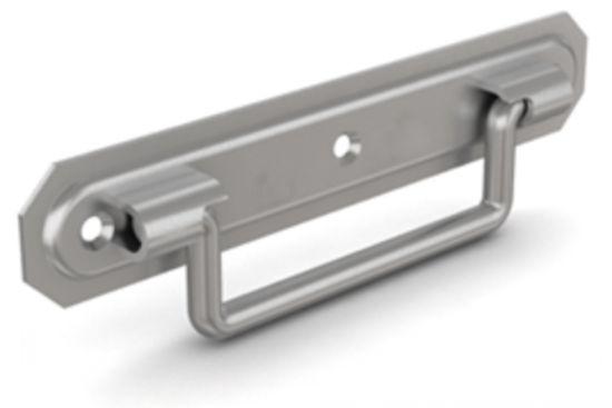 Poignée abattante sur platine poignée - entraxe 130 mm