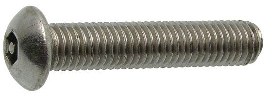 Vis métaux tête bombée six pans creux inviolable vis métaux inviolable avec téton central