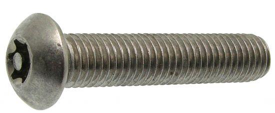 Vis métaux tête bombée torx inviolable vis métaux inviolable avec téton central