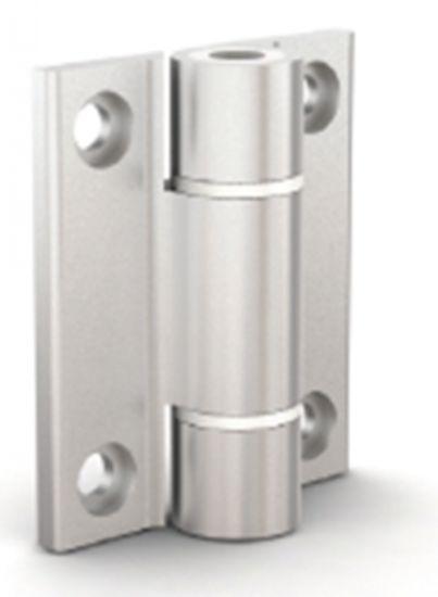 Charnière en profil charnière aluminium - anodisé incolore