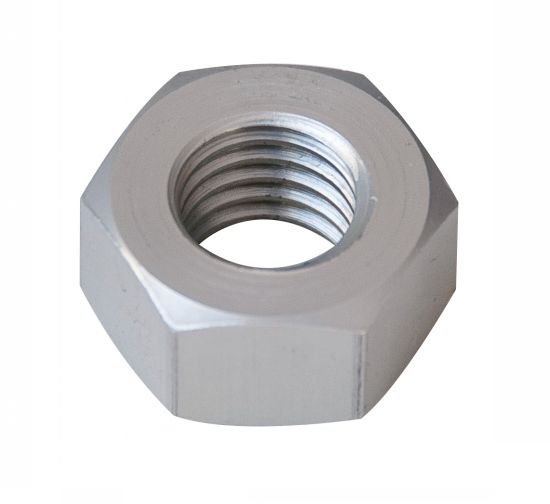 Ecrou hexagonal hu ecrou aluminium p60 finition (anodisée incolore)