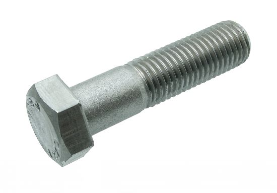 Vis métaux tête hexagonale  filetage partiel vis métaux th aluminium p60 finition aoi (anodisé incolore)