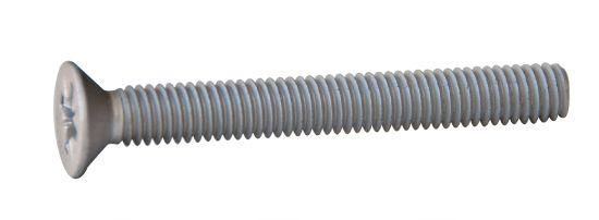 Vis à tête fraisée pozi vis métaux tf pz aluminium p60 finition aoi (anodisé incolore)