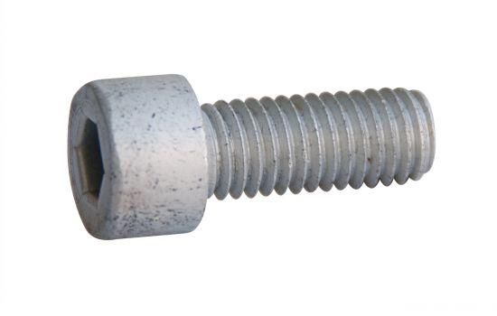 Vis à métaux tête cylindrique six pans creux vis métaux tchc aluminium p60 finition aoi (anodisé incolore)