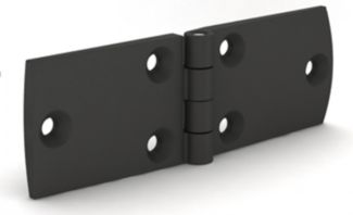 Charnière rectangle en polyamide charnière renforcée en fibre de verre - broche en inox a2