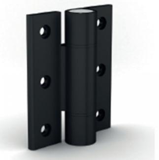 Charnière en profil pour forte charge charnière aluminium - anodisé incolore