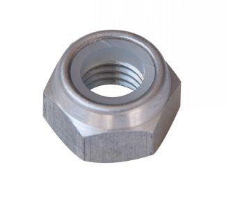 Ecrou frein hexagonal indésserable ecrou frein nylstop aluminium dural brut