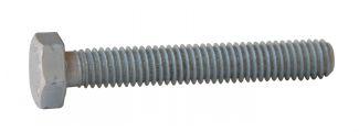 Vis métaux tête hexagonale filetage entier vis métaux th aluminium p60 finition aoi (anodisé incolore)