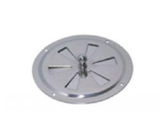 Grille d'aération ronde à fermeture centrale